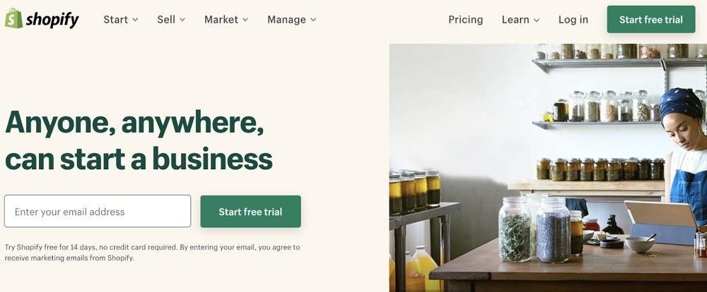 Shopify免费试用