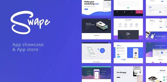 Swape v1.7.3-App Showcase&App Store WordPress主题
