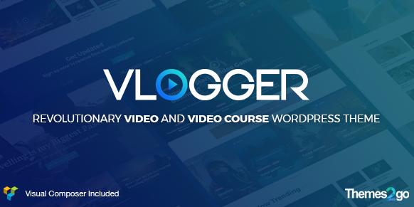 Vlogger v2.6.0:专业视频和教程WordPress主题