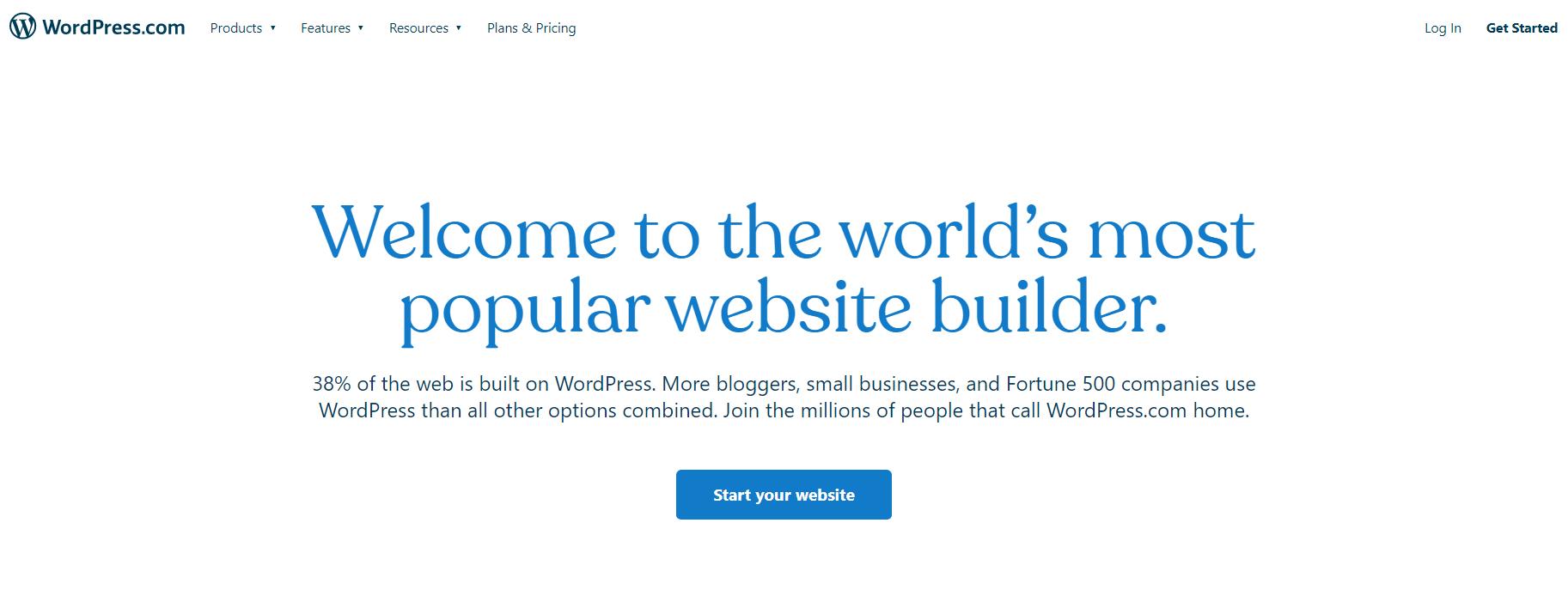 Wordpress.com网站生成器。