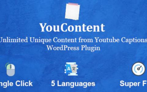YouContent v1.0 –来自YouTube字幕的无限唯一内容生成器