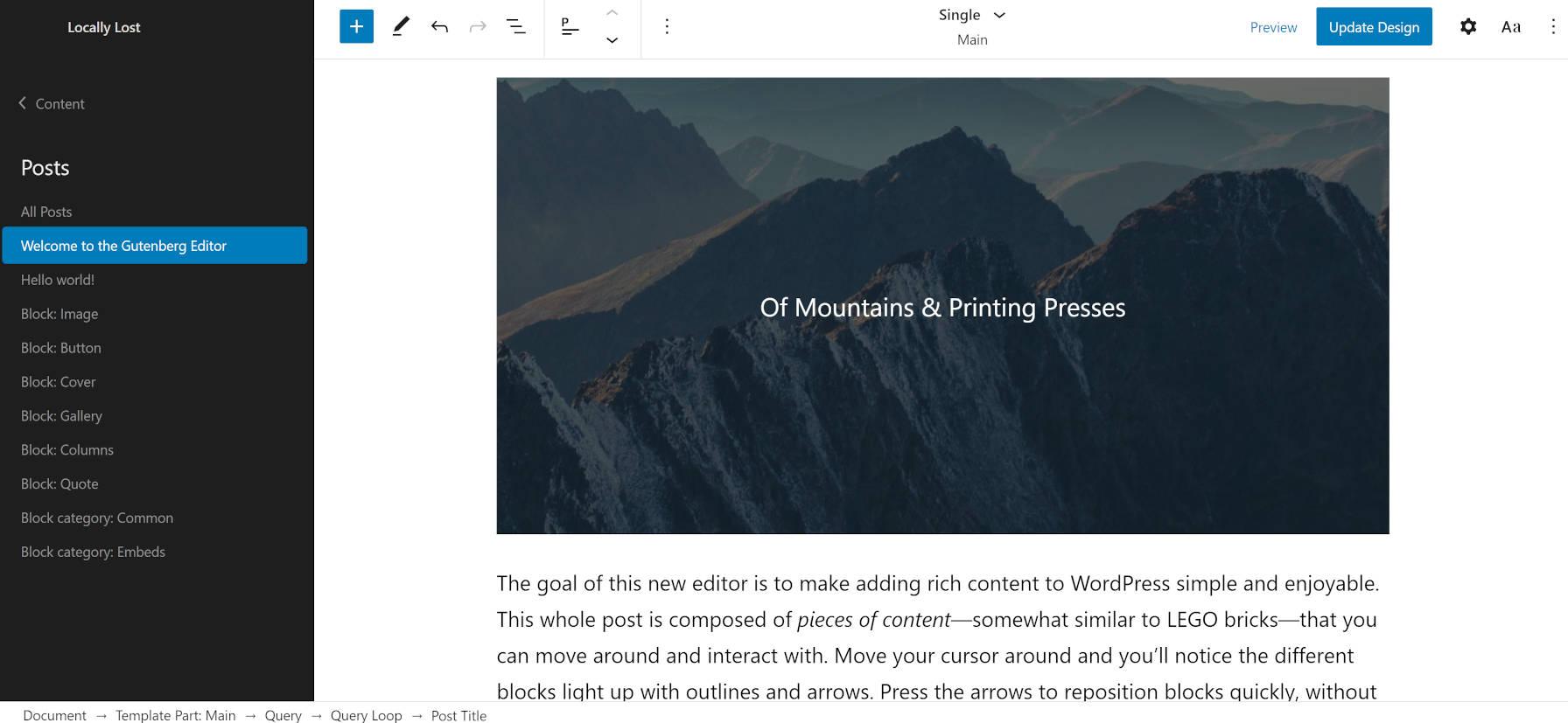 Armando WordPress主题可提供对全站点编辑当前状态的了解Armando WordPress主题可提供对全站点编辑当前状态的了解