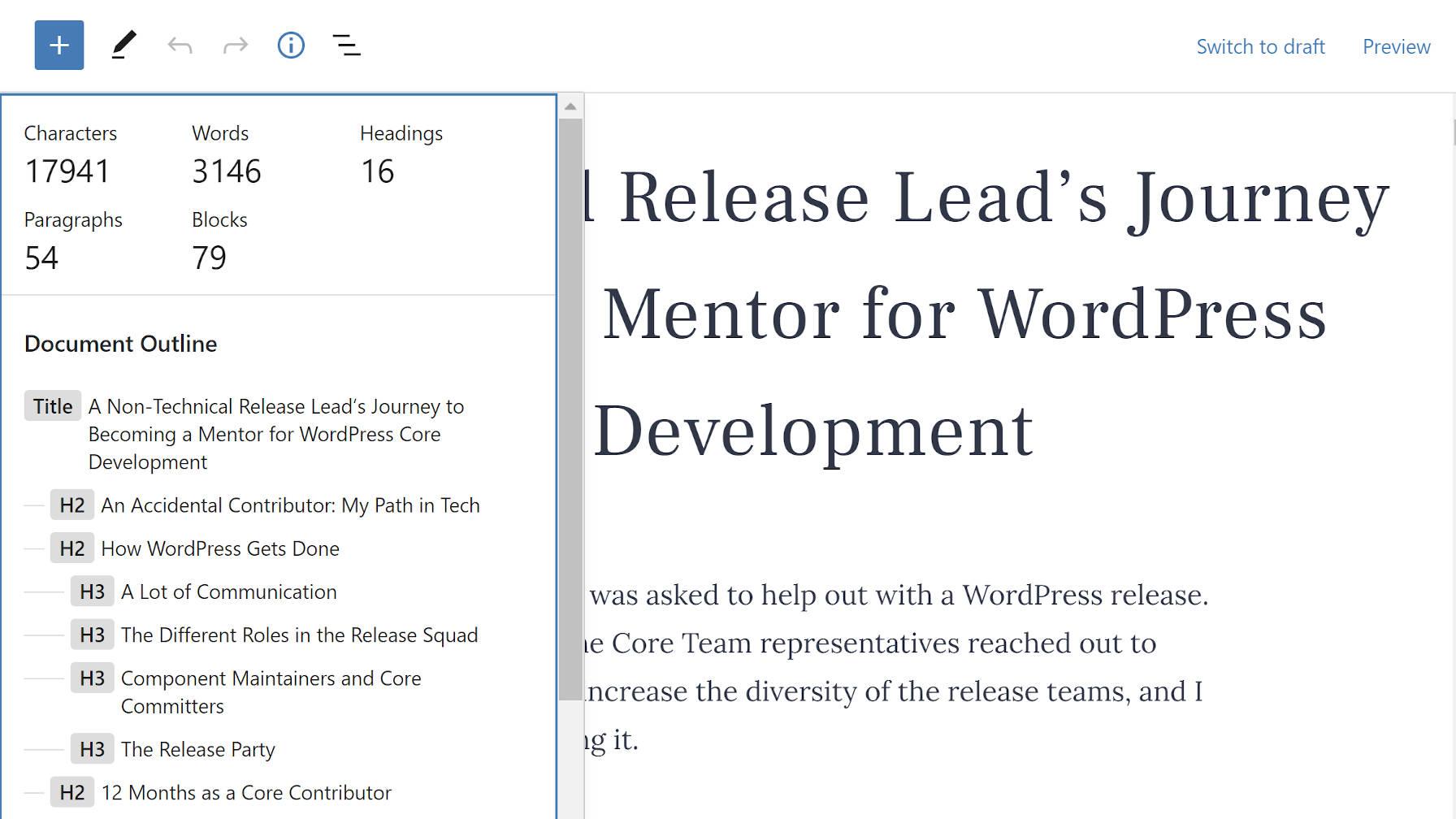 块导航插件为WordPress编辑器3提供了缺少上下文的大纲块导航插件为WordPress编辑器提供了缺少基于上下文的大纲