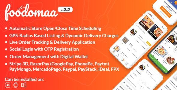 Foodomaa v2.4.0 –多餐厅食品订购+餐厅本地应用程序