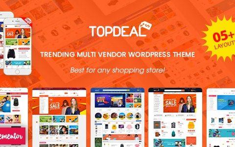 TopDeal v1.9.7 –多供应商市场Elementor WooCommerce WordPress主题(已准备好移动布局)
