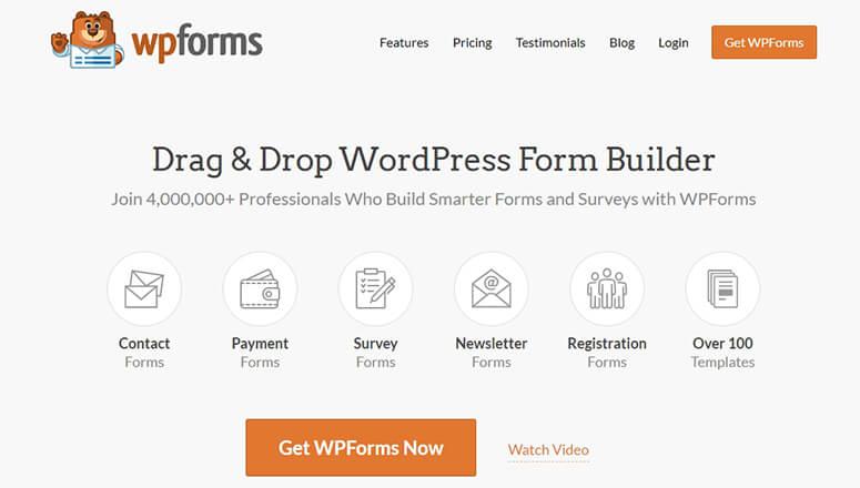 WPForms WordPress表单插件