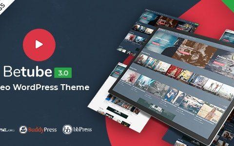 Betube Video WordPress主题v3.0.4