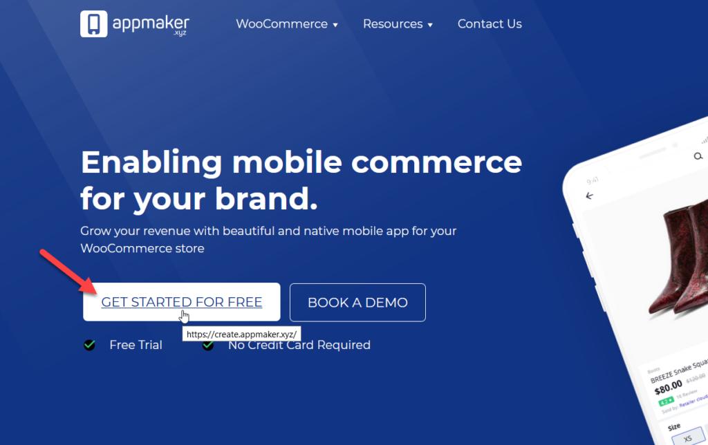 创建woocommerce移动应用-创建应用