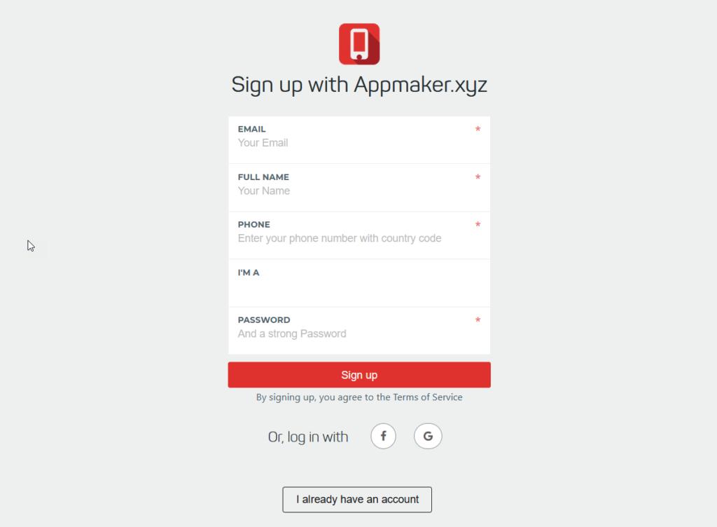创建woocommerce移动应用程序-appmaker.xyz帐户