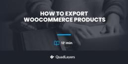 如何导出WooCommerce产品