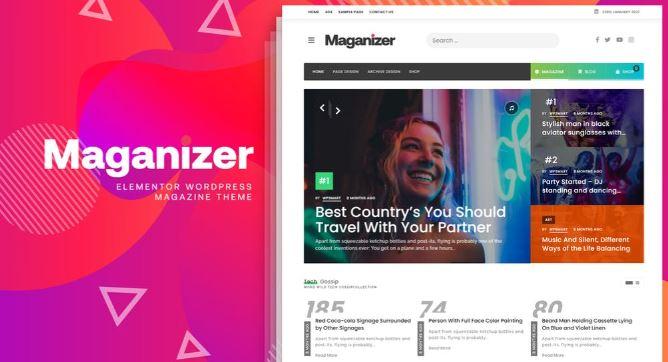 Maganizer v1.0-现代杂志WordPress主题