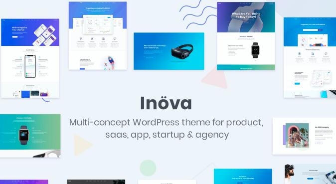 Inova v3.6.0-初创公司和代理商的多功能WordPress主题