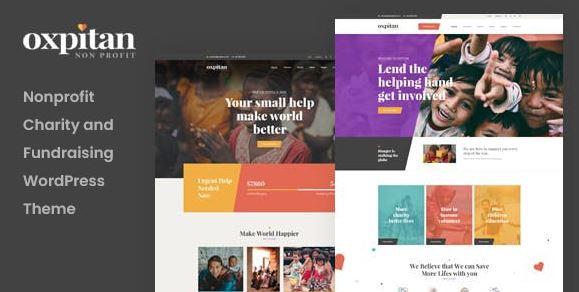 Oxpitan-非营利慈善WordPress主题v1.0.1