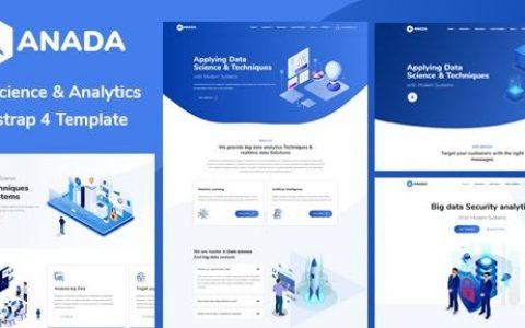 Anada v1.2.0 –数据科学与分析WordPress主题