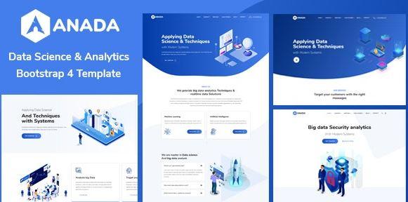 Anada v1.2.0-数据科学和分析WordPress主题