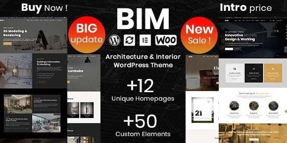 BIM v1.0.8-建筑与室内设计元素或WordPress主题