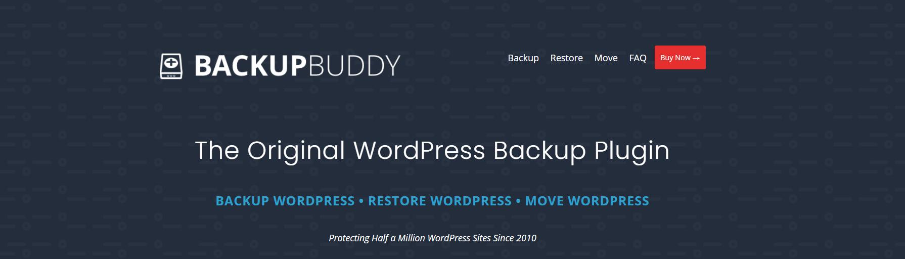 Backup Buddy是一个完整的WordPress迁移插件,可以选择备份和移动您的网站。
