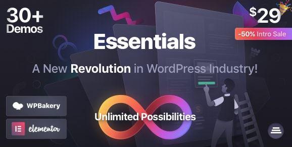 Essentials v1.2.3   多用途WordPress主题为空