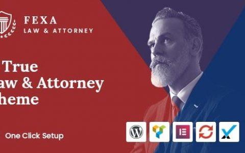 Fexa v1.2 –律师和律师WordPress主题