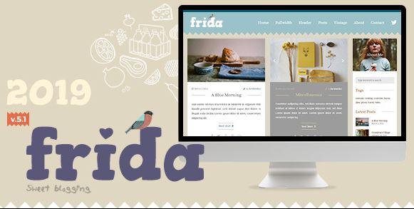Frida v7.0-一个甜美而经典的博客主题