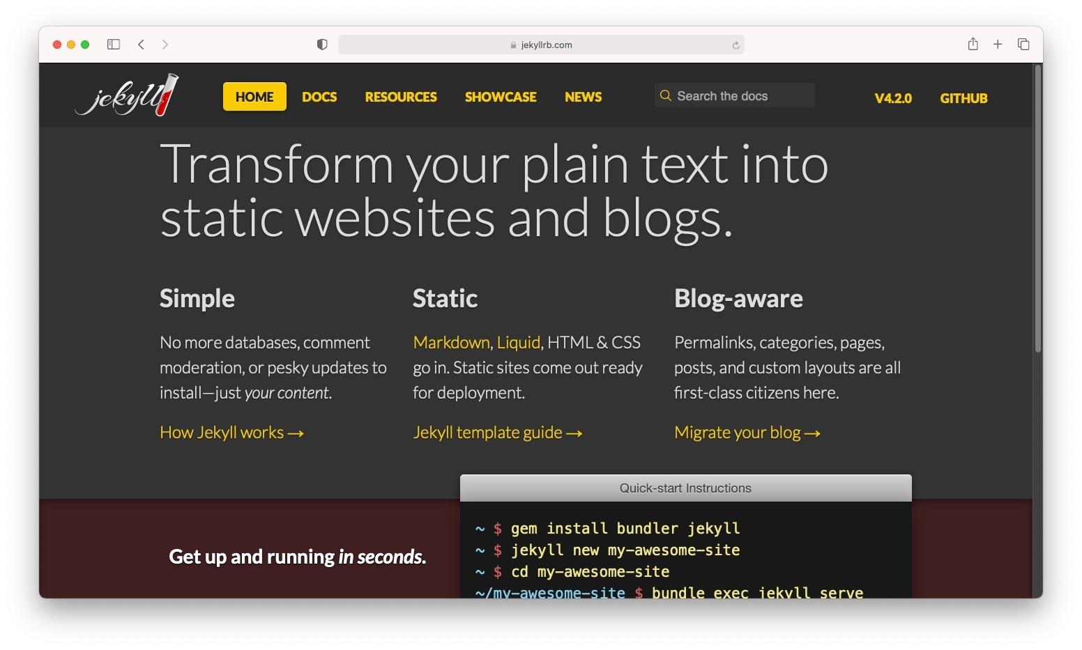 Jekyll,一个开源WordPress到HTML的转换器。