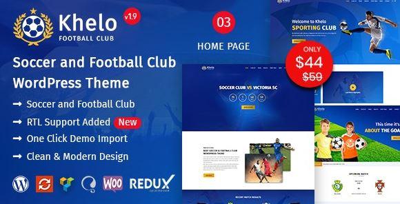 Khelo v2.7-足球WordPress主題