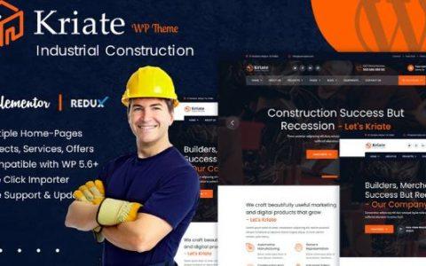 Kriate v1.0 –工业建筑多用途WordPress主题