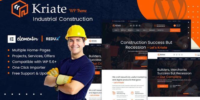 Kriate v1.0-工业建筑多用途WordPress主题