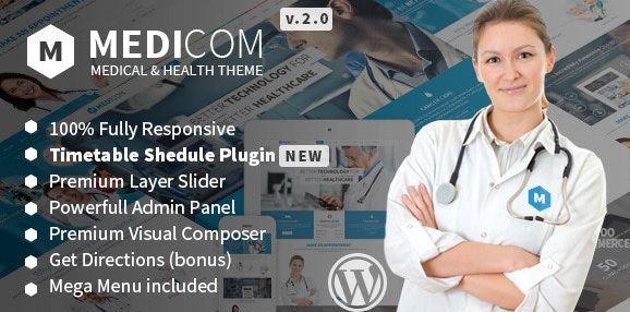 Medicom v3.0.8-醫療與健康WordPress主題
