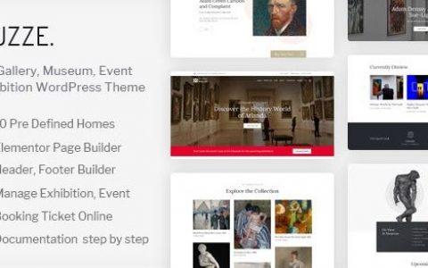 Muzze v1.3.0 –博物馆美术馆展览WordPress主题