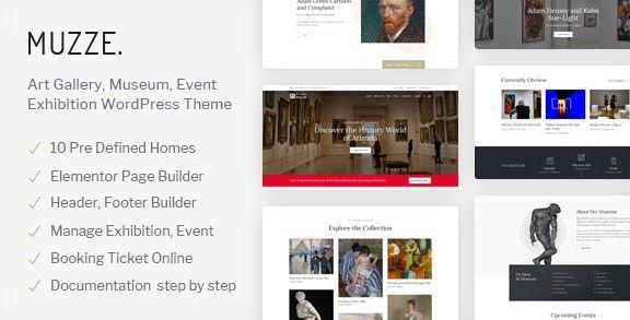 Muzze v1.3.0-博物馆美术馆展览WordPress主题