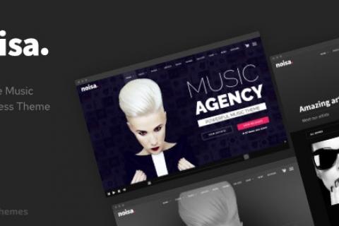 Noisa v2.5.5 – WordPress的音乐制作人,乐队和活动主题