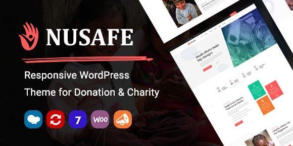 Nusafe v1.7   响应式WordPress主题的捐赠与慈善