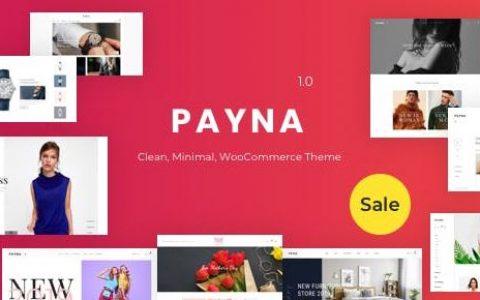 Payna v1.0.8 –干净,最小的WooCommerce主题