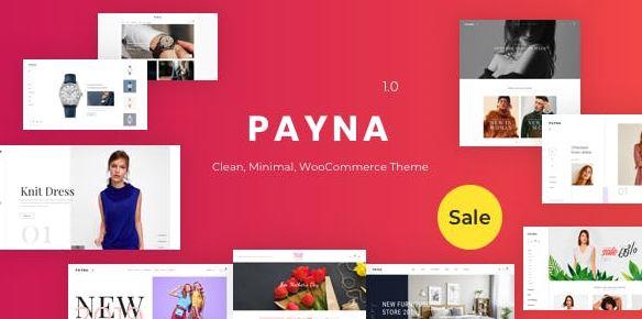 Payna v1.0.8-干净,最小的WooCommerce主题