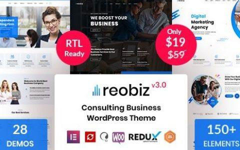 Reobiz v3.5 –咨询业务WordPress主题
