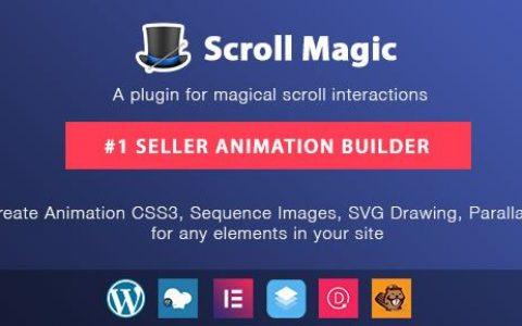 Scroll Magic WordPress v4.1.3 –滚动动画生成器插件