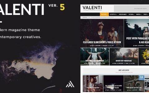 Valenti v5.6.2 – WordPress HD评论杂志新闻主题