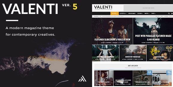 Valenti v5.6.2-WordPress HD评论杂志新闻主题