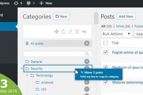 WordPress实分类管理v3.4.5 –自定义分类术语顺序/树视图为空