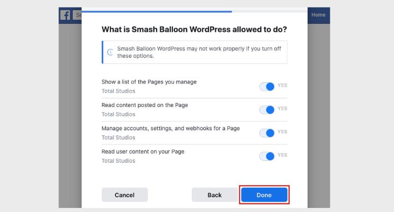 Facebook权限粉碎气球