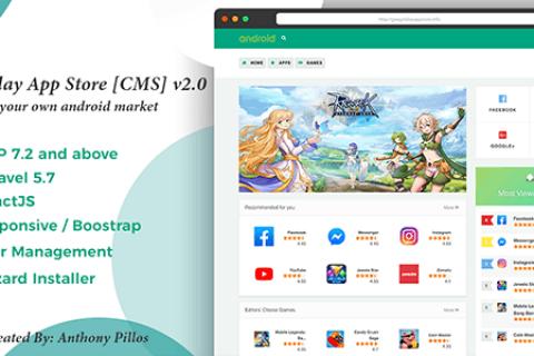 Google Play应用商店v2.0.9 –适用于Android应用商店的CMS