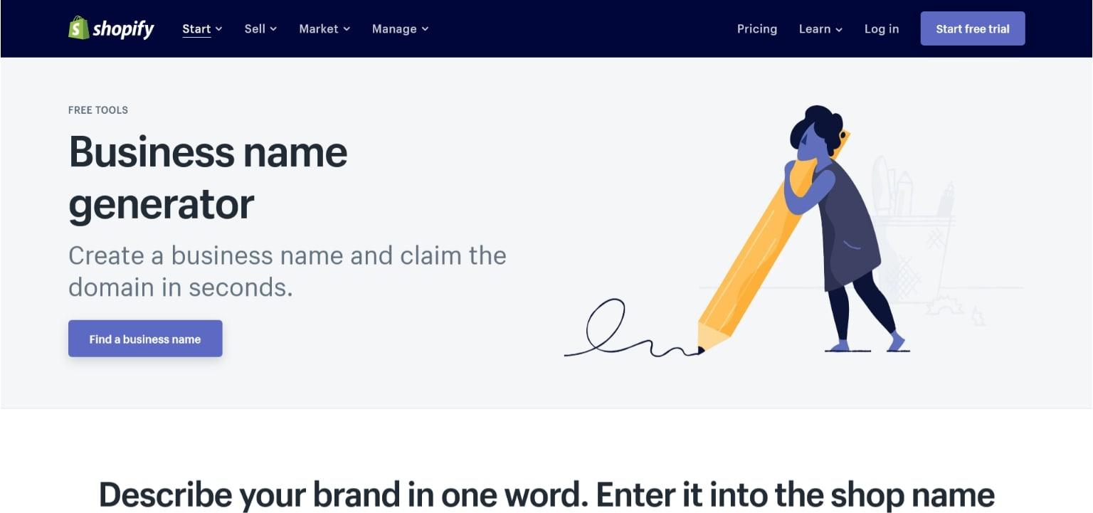 Shopify企业名称生成器