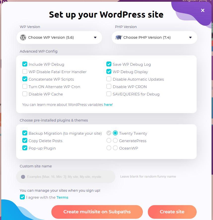 astewp-spins-up-free-wordpress-testing-sites-in-seconds-2 TasteWP以秒为单位旋转免费WordPress测试站点