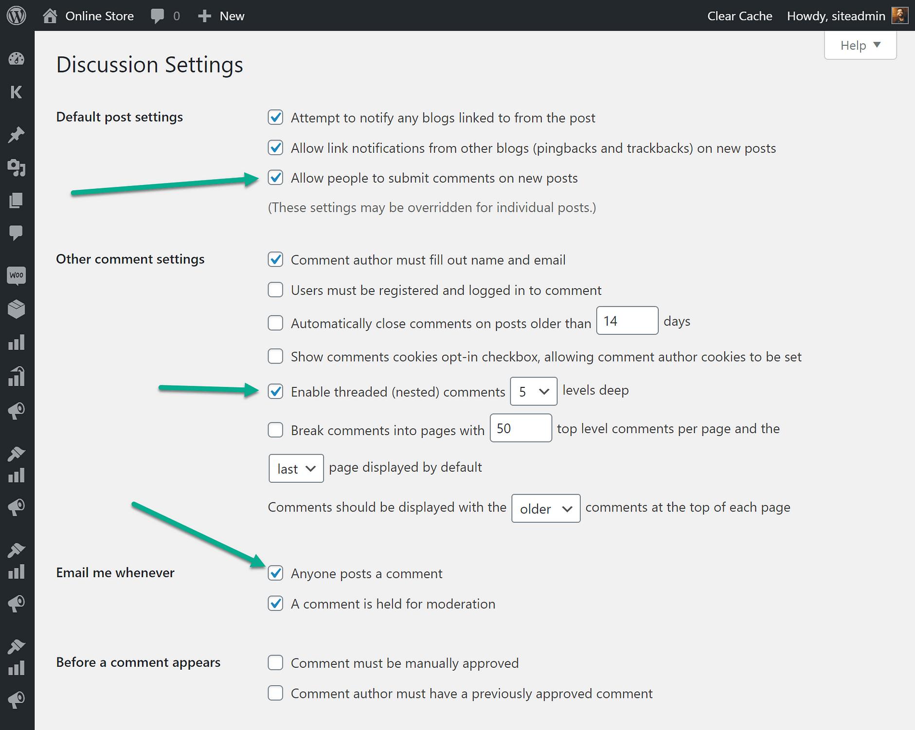 WooCommerce的客户评论的更多设置