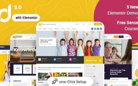 Ed School v3.5.0 Education WordPress主題