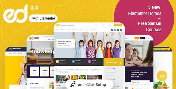 Ed School v3.5.0 Education WordPress主题