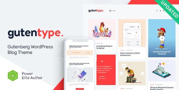 Gutentype | 现代博客的100%古登堡WordPress主题