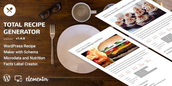 Total Recipe Generator-具有架构和营养成分(Elementor插件)的WordPress食谱制作器v2.6.1