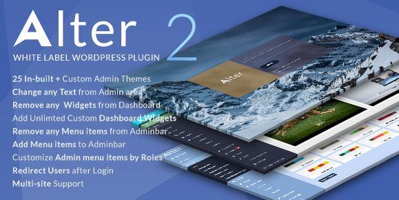 WpAlter-白色标签WordPress插件v2.4.1已空
